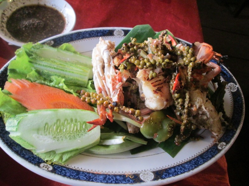 Famous Kep Crab with Kampot Pepper