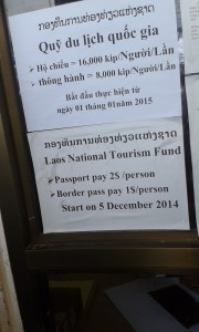 Additional Laos Border Fees