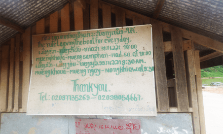 How to get from Muang Khua to Muang Ngoi by Boat