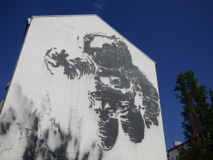 Victor Ash Astronaut Backpacker Bible Berlin Street Art