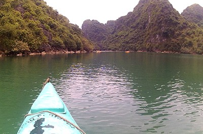 Kayaking in Ha Long Bay Video